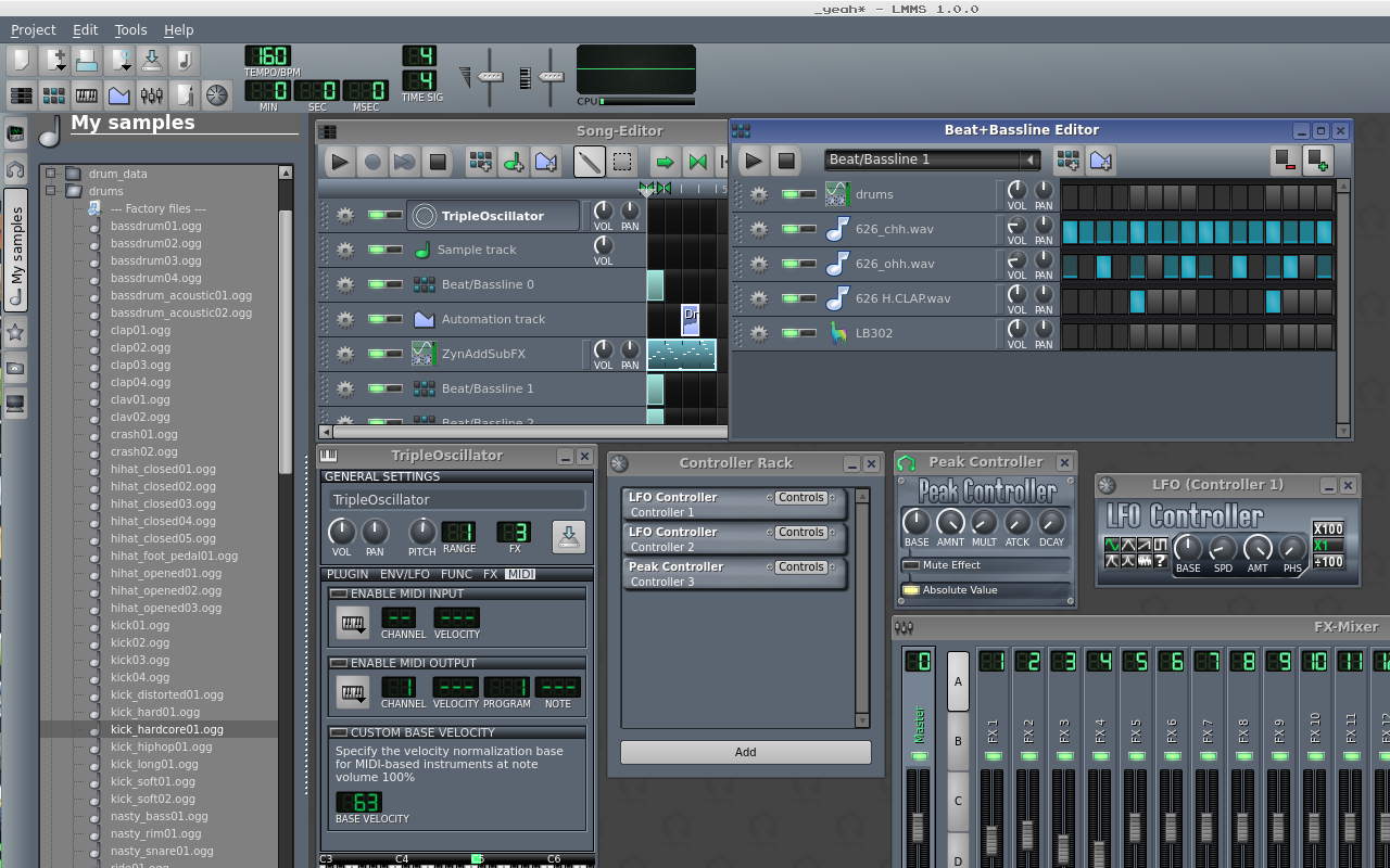Screenshot 2 LMMS, Software Recording