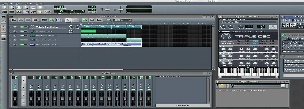 LMMS Recordinfg software
